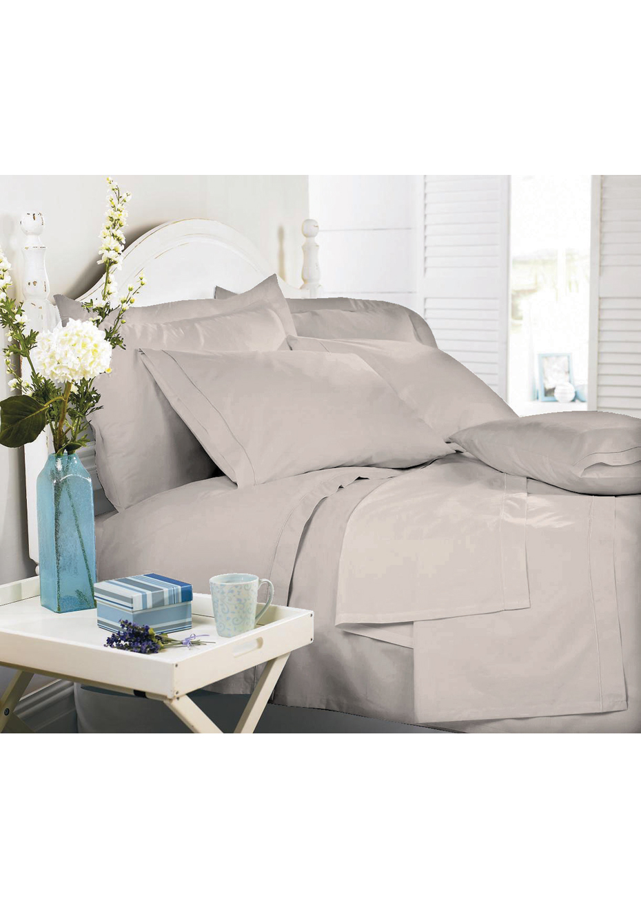 100 Egyptian Cotton Sheets Royal Comfort Middleton Collection 1000tc 100 Egyptian Cotton Sheet Set Warm Grey Single