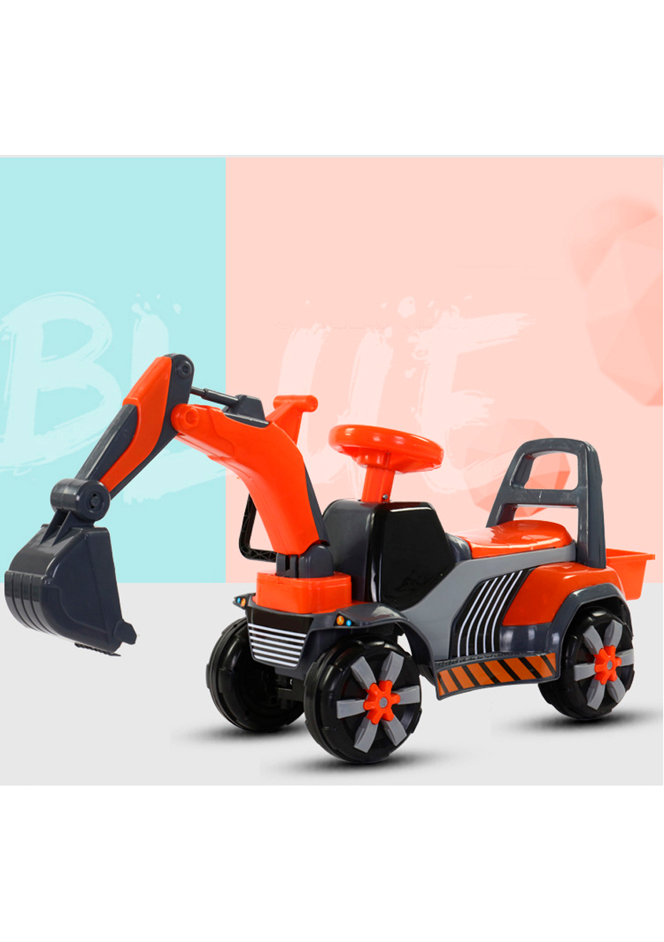Digger Toy Kid S Ride On Digger Toy Orange