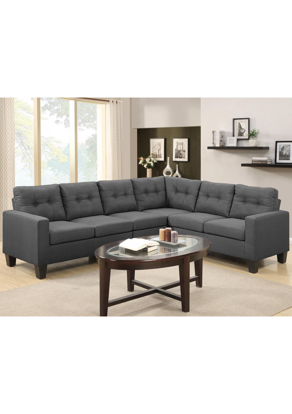 Lounge Suites Kensington Sofa Suite Corner Grey