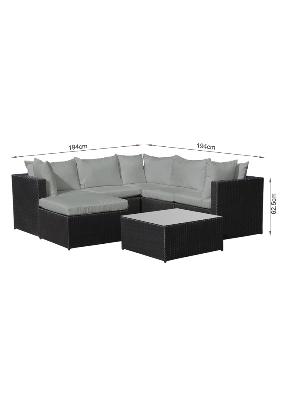 Outdoor Sofa Rattan Betalife Outdoor Rattan Sofa 7pcs Set