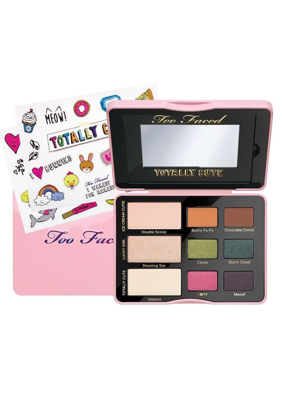 Big W Stickers Too Faced Set Totally Cute Sticker Eye Shadow Collection Palette
