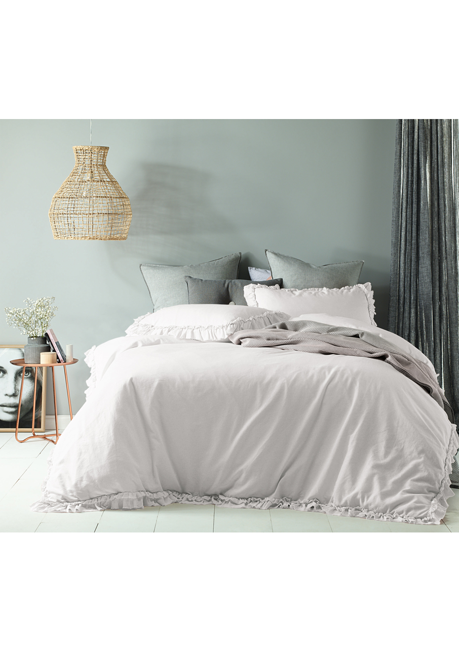 Quilt Cover King Was 99 99 Maison White Linen Cotton Quilt Cover Set King Bed