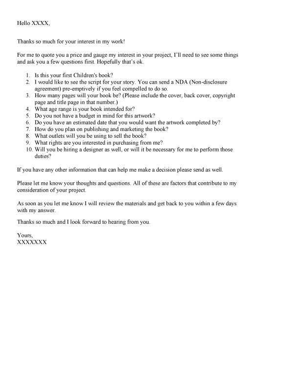 Query Letter Responses Selling Your Screenplay Flooby Nooby November 2012