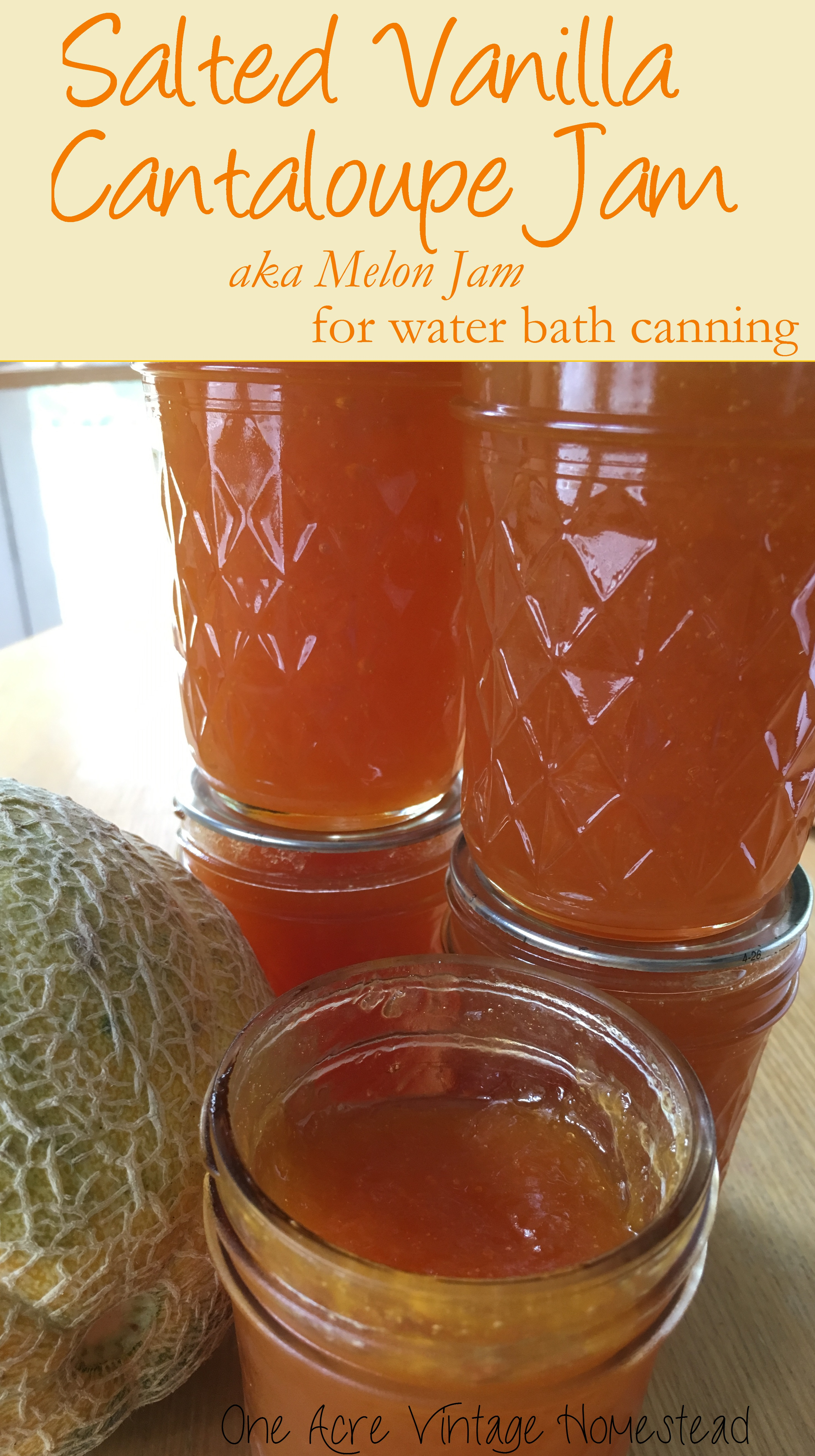 Food Recipe Preservation Salted Vanilla Cantaloupe Jam A Water Bath Food