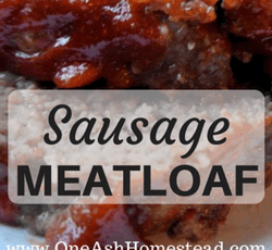 sausage meatloaf featured