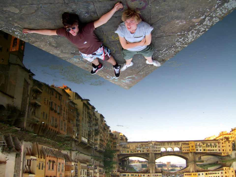 forced perspective, florence, italy photo One Big Photo