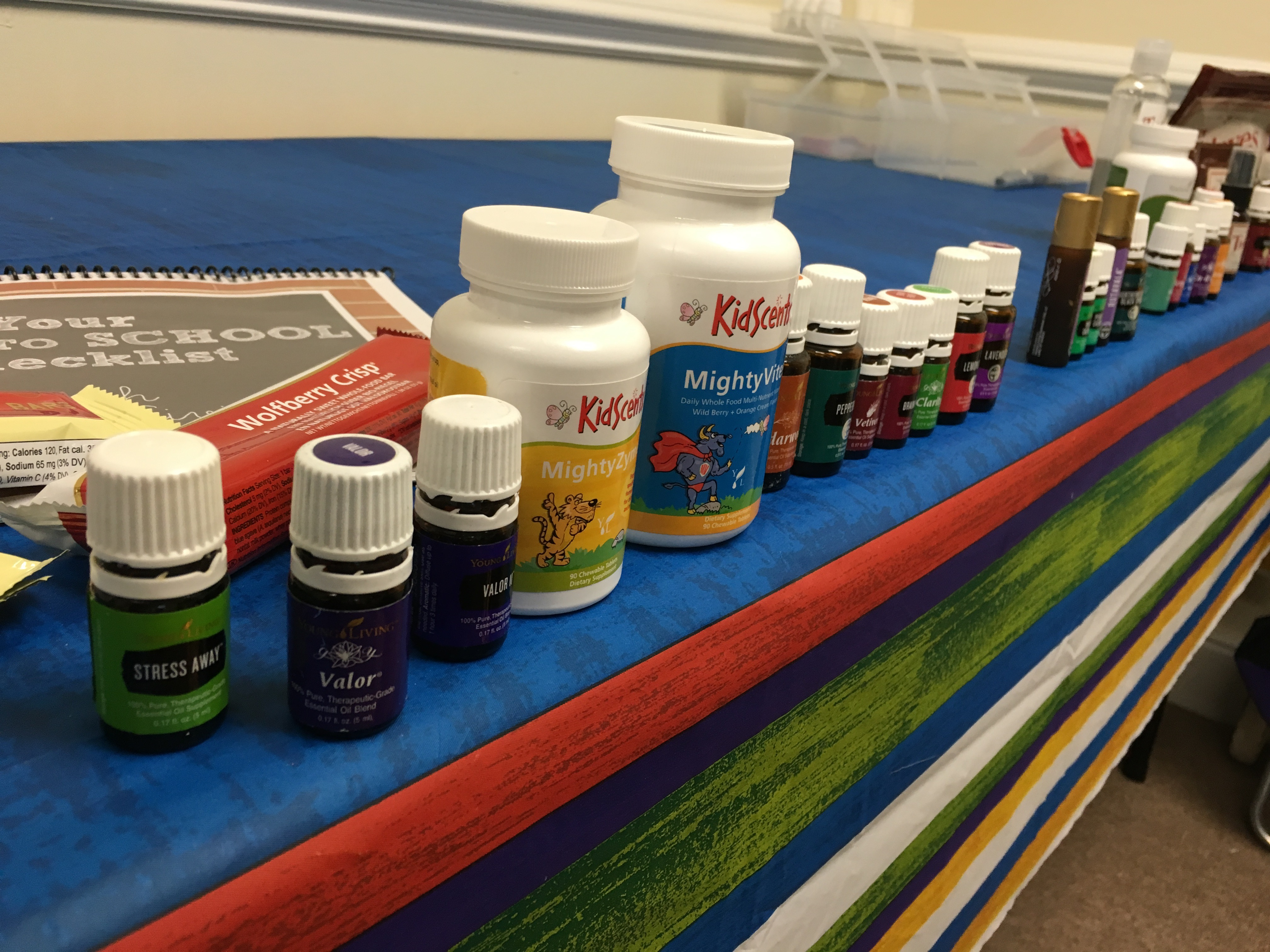 Layout of All Oils - Back to School In Person Class