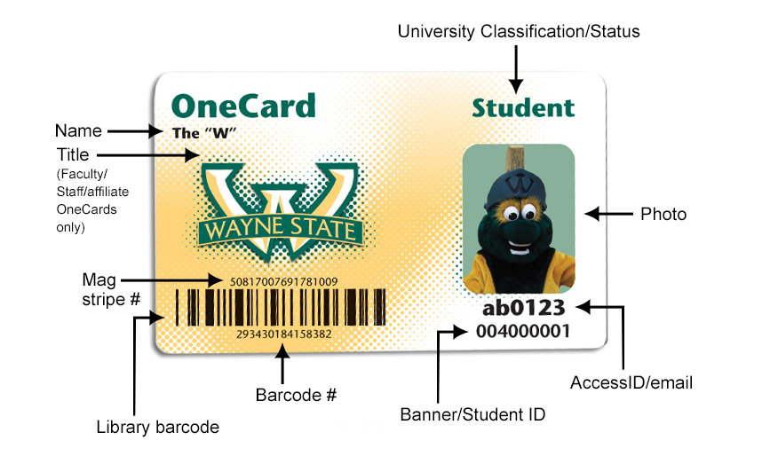 About your OneCard - OneCard - Wayne State University - student identification card