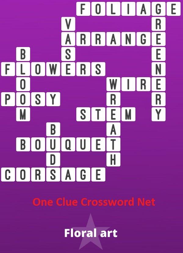 Floral Art Bonus Puzzle - One Clue Crossword