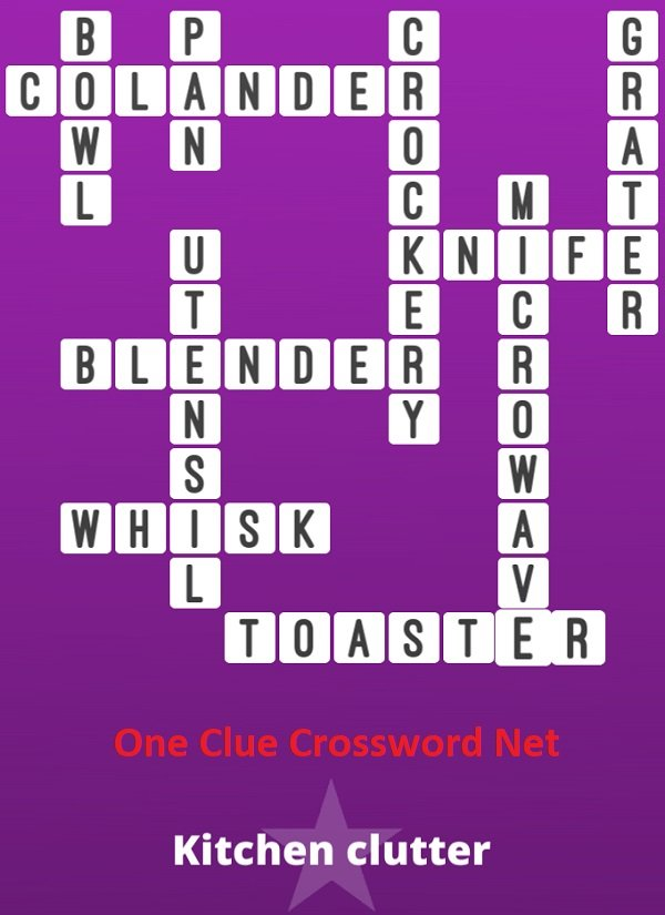 Colander Kitchen Clutter Bonus Puzzle - One Clue Crossword