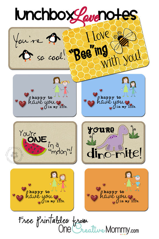 Lunchbox Love Notes - onecreativemommy