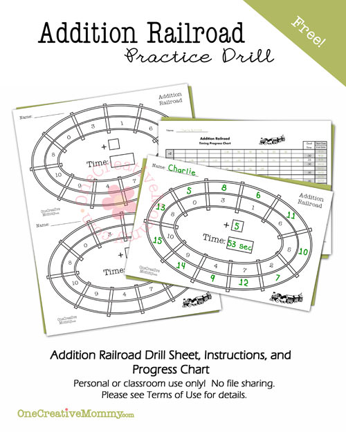 Addition Facts Practice Ideas-Make it Fun! - onecreativemommy - progress chart for kids