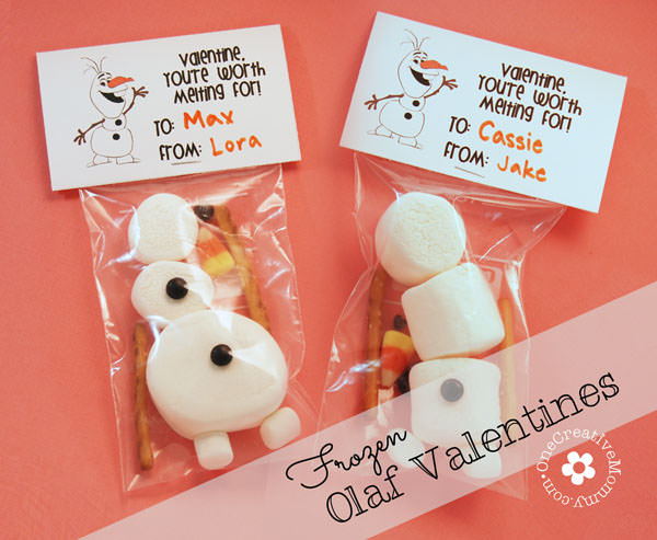 Frozen Olaf Valentines {Free Printable} - onecreativemommy