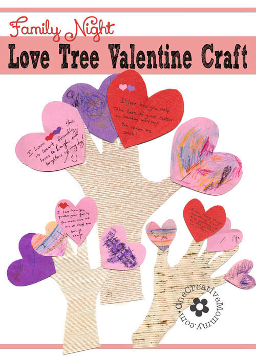Family Night Valentine Crafts {Love Trees} - onecreativemommy