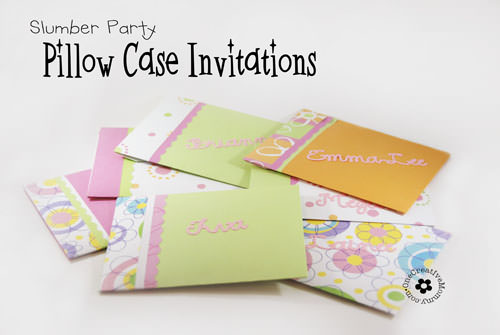 Pillow Case Un-Slumber Party Invitations - onecreativemommy