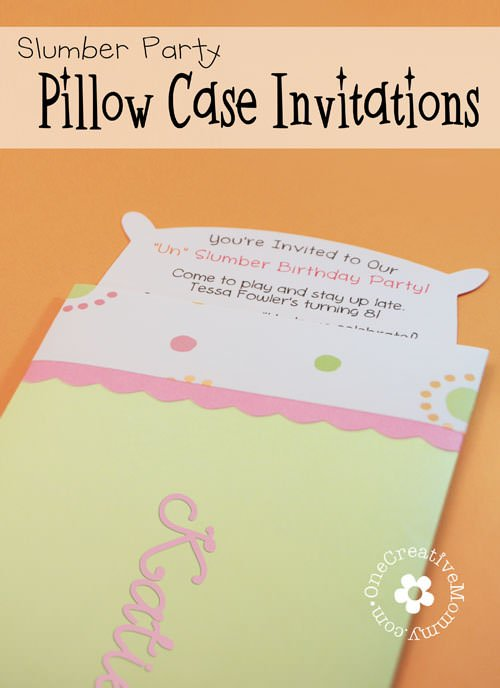 homemade slumber party invitations