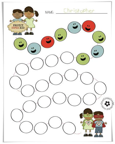 Super Kids Goal Setting Chart - onecreativemommy