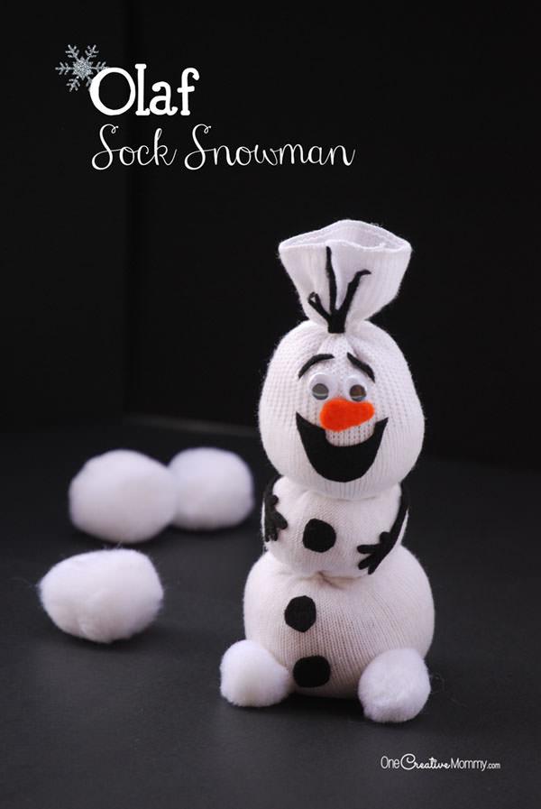 Olaf Sock Snowman Tutorial - onecreativemommy