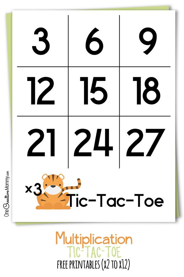 Multiplication Tic Tac Toe {Fun Math Game} - onecreativemommy