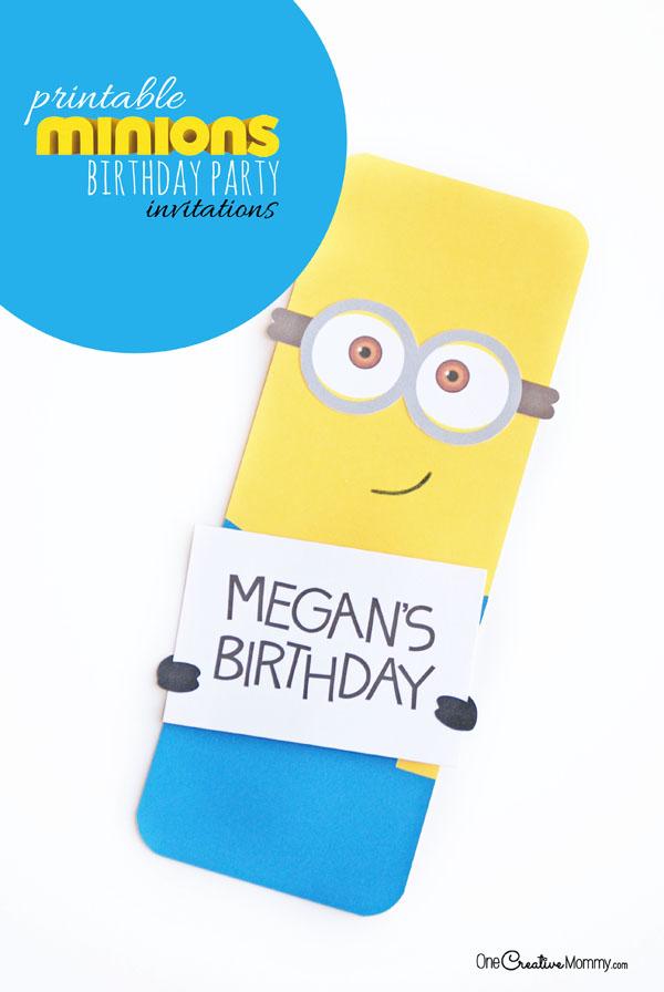 Cute Minion Party Invitations - onecreativemommy
