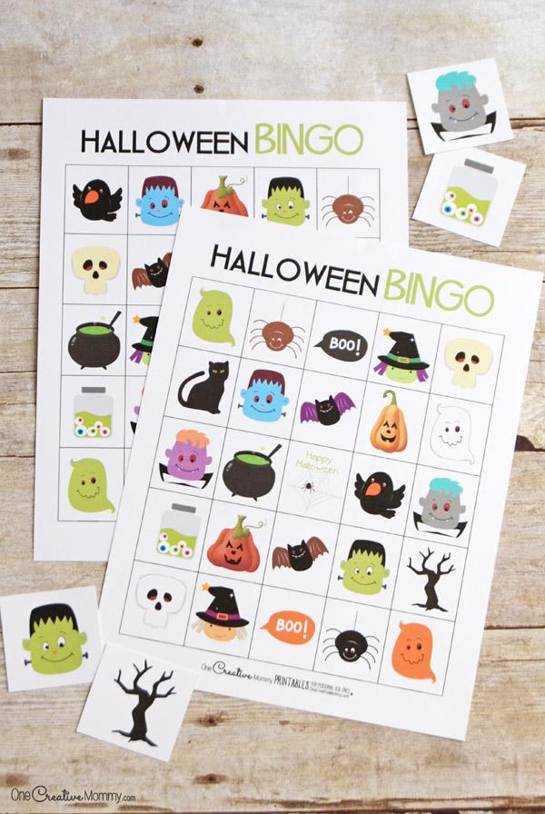 Printable Halloween Bingo Cards - onecreativemommy