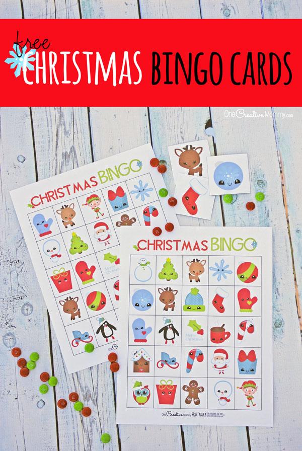 The cutest free Christmas Bingo Boards! - onecreativemommy