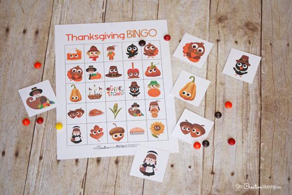 Best Thanksgiving Bingo Game! - onecreativemommy