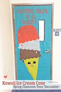 Easy Classroom Door Idea for Spring - onecreativemommy.com