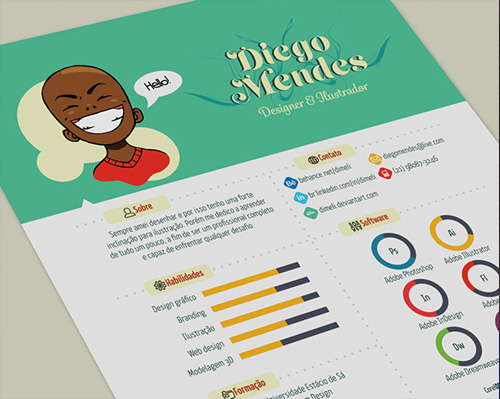 creative cv templates illustrator