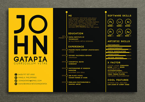creative art cv templates
