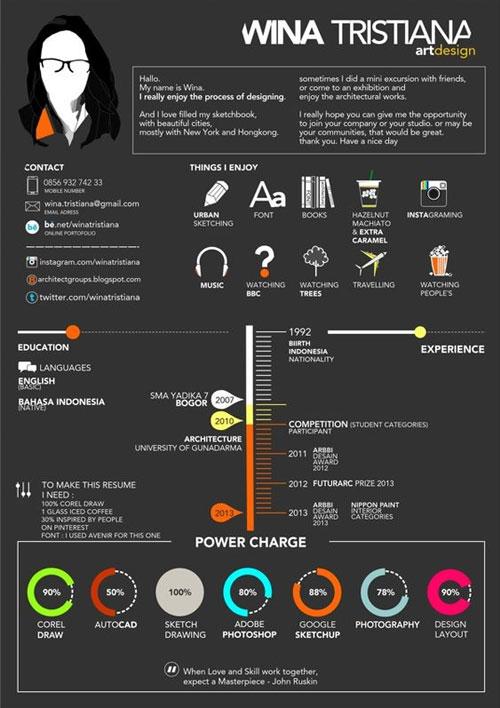 creative resume design psd