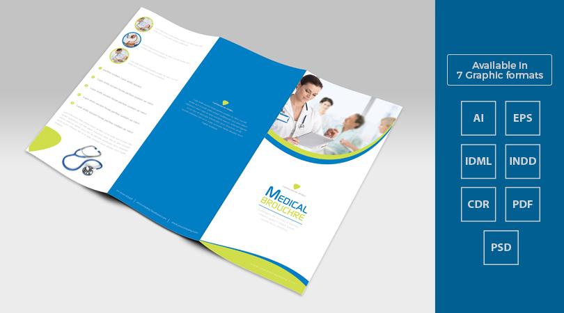 Tri-Fold Medical Brochure Template Design in Ai, EPS, PDF, CDR, PDF - medical brochure
