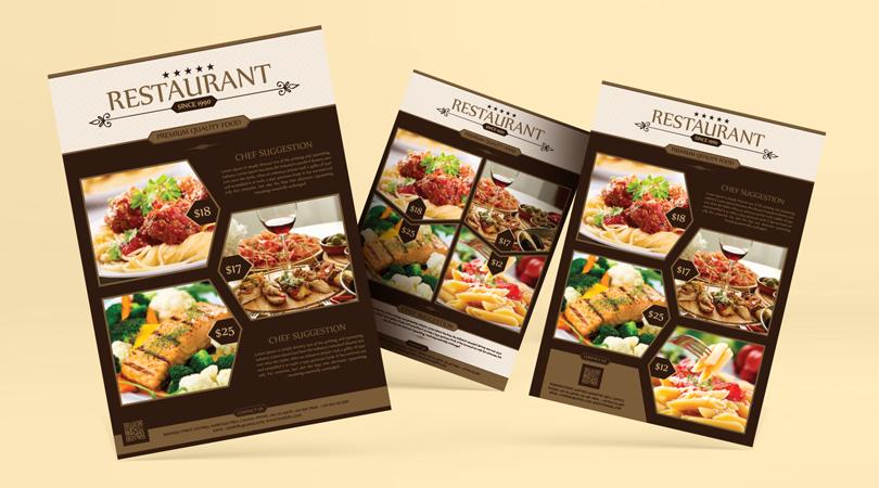 Premium Restaurant Flyer Template Designs