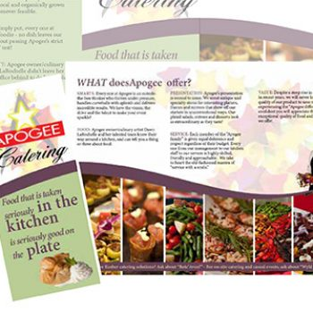 Apogee Catering Trifold - Oneeighty Media
