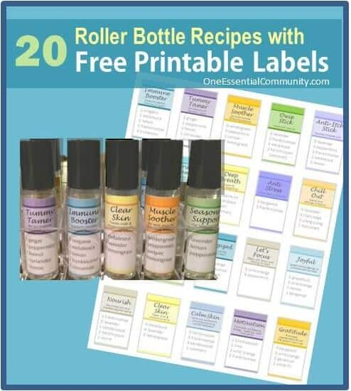 Roller Bottle Blend Recipes with Free Printable Labels - ONE - company contact list template