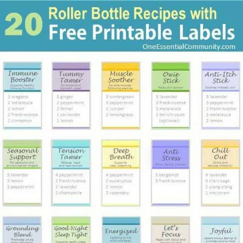 Roller Bottle Blend Recipes with Free Printable Labels - ONE - phone list template excel