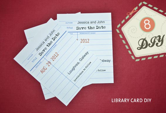 Library Style Save the Date DIY OneFabDay