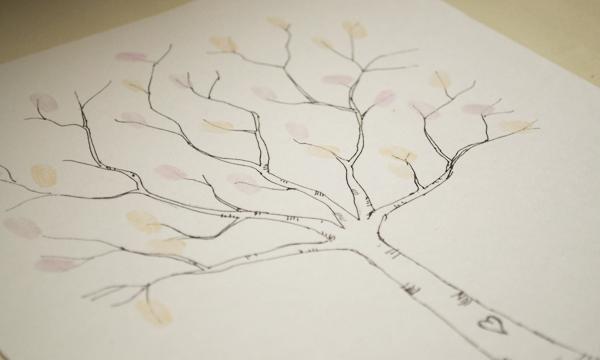 Wedding DIY Fingerprint Tree Template to Download  Print