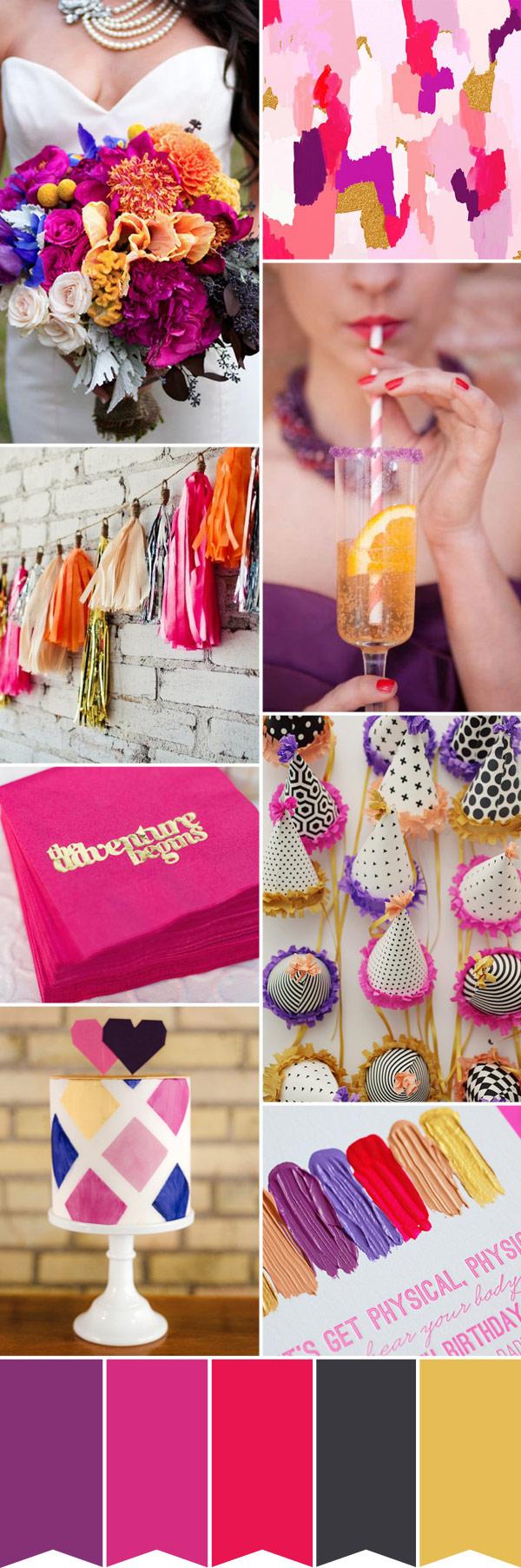 Fullsize Of Purple And Gold Wedding