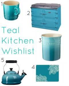 A Teal Kitchen Wishlist