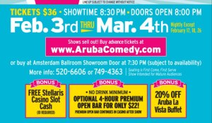 Aruba Ray Ellin Comedy Feb-March 2016