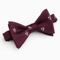 Hole in One/Oneholer Bow Tie Maroon Polyester