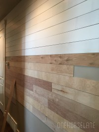 DIY Shiplap Wall...Easy, Cheap, and Beautiful Part 1 - One ...