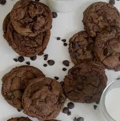 Decadent Chocolate-Chocolate Chip Cookies