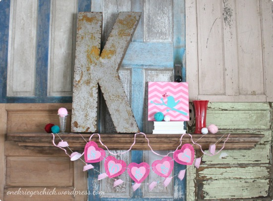 Sweet Valentines Mantle