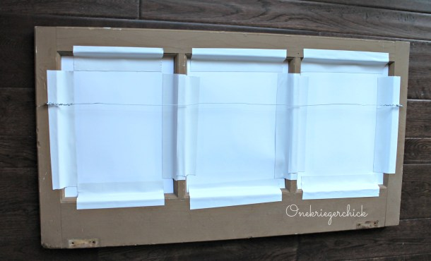 back of window frame how-to hardware {Onekriegerchick.com}