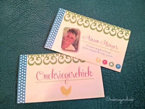 business cards {Onekriegerchick.com}