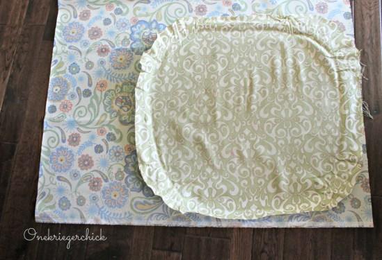 Measuring fabric for barstools {Onekriegerchick.com}