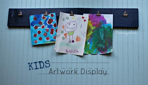 EASY DIY Kids Artwork Display board I Onekriegerchick.com