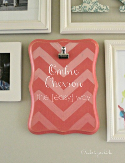 Ombre Chevron- the easy way! {Onekriegerchick.com}